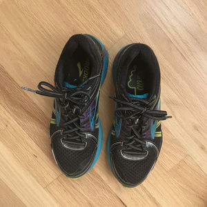 Brooks — Adrenaline GTS 17 Black, Purple, Lime / 9